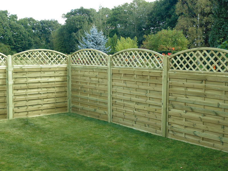 Neat And Well Organized Lattice Fence System Made From Soft Wood