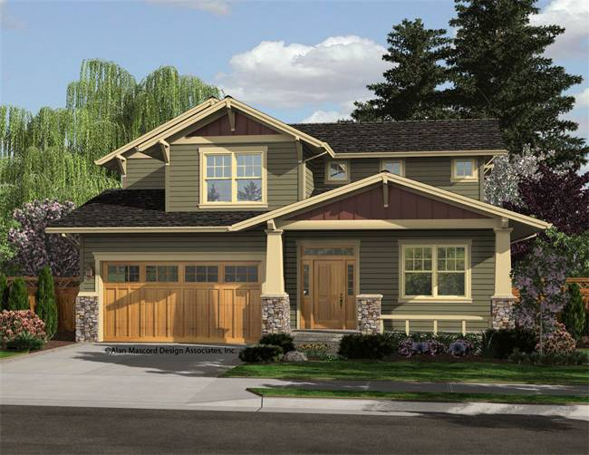 Awesome design of craftsman style house homesfeed Craftsman home plans
