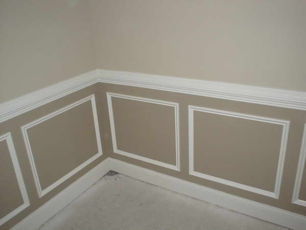 Wonderful Design of Chair Rail Molding Idea for Homes