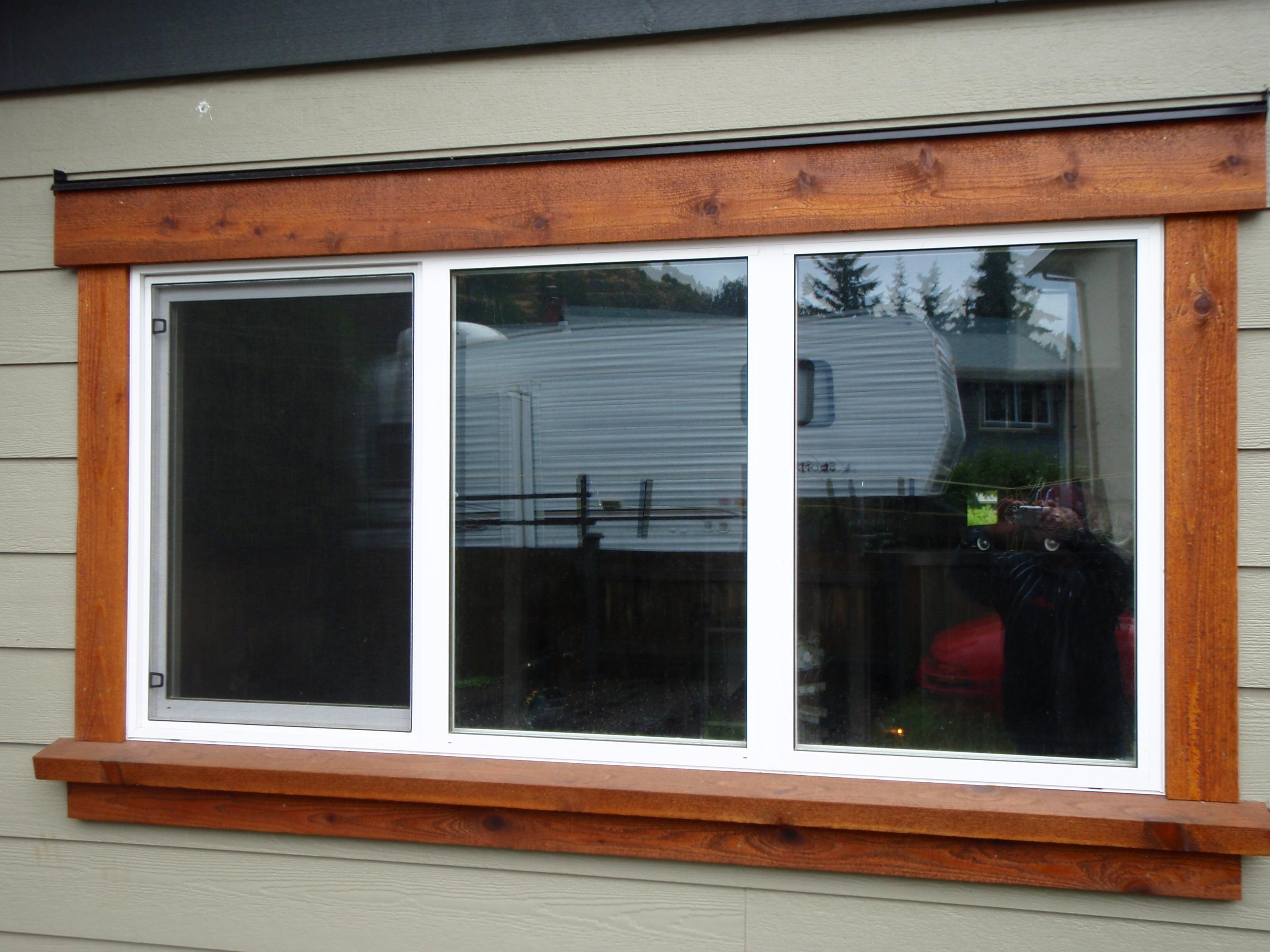 Simple design of outdoor windows trim homesfeed for Exterior framing