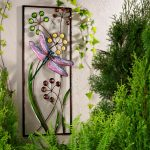 nice cool fresh calm wonderful outdoor fence decoration with with nice plant and flower decoration concept with natural environment