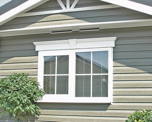 White Exterior Window Trim Simple Design of Outdo...