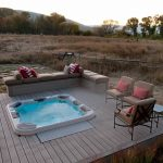 Hot tub deck of the HGTV Dream Home 2012 located in Midway, Utah