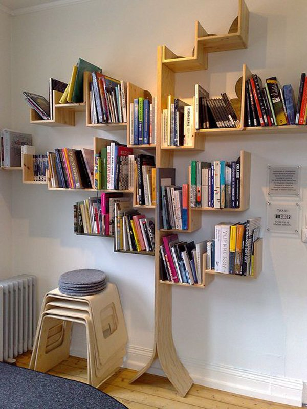 Tree shaped bookshelf find a new way to be crazy in for Read your bookcase buy