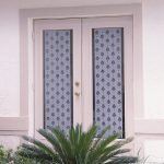 pretty patterned-sidelight window films for entrance door