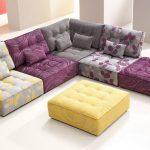 purple-mode modular furniture with yellow table