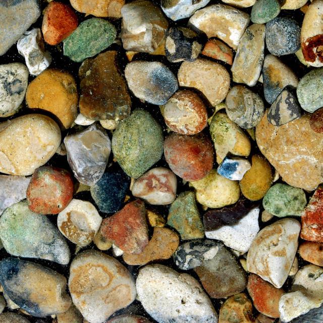 river rocks in rustic colors