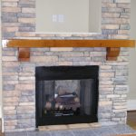 rustic cedar in white bricks fireplace building  solidwood floors