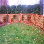 rustic style lattice fences made from wood