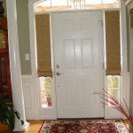Sidelight Half Window Cover For Main Entrance Door Beautiful Mini Entry Door Rug Laminated Planks Floor