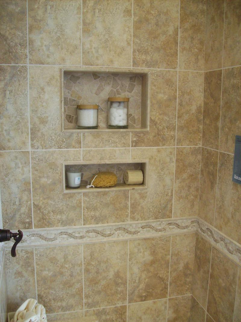 Built In Shower Shelves as the Practical Way of Storing