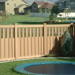 simple fence decoration for outdoor a small round pool
