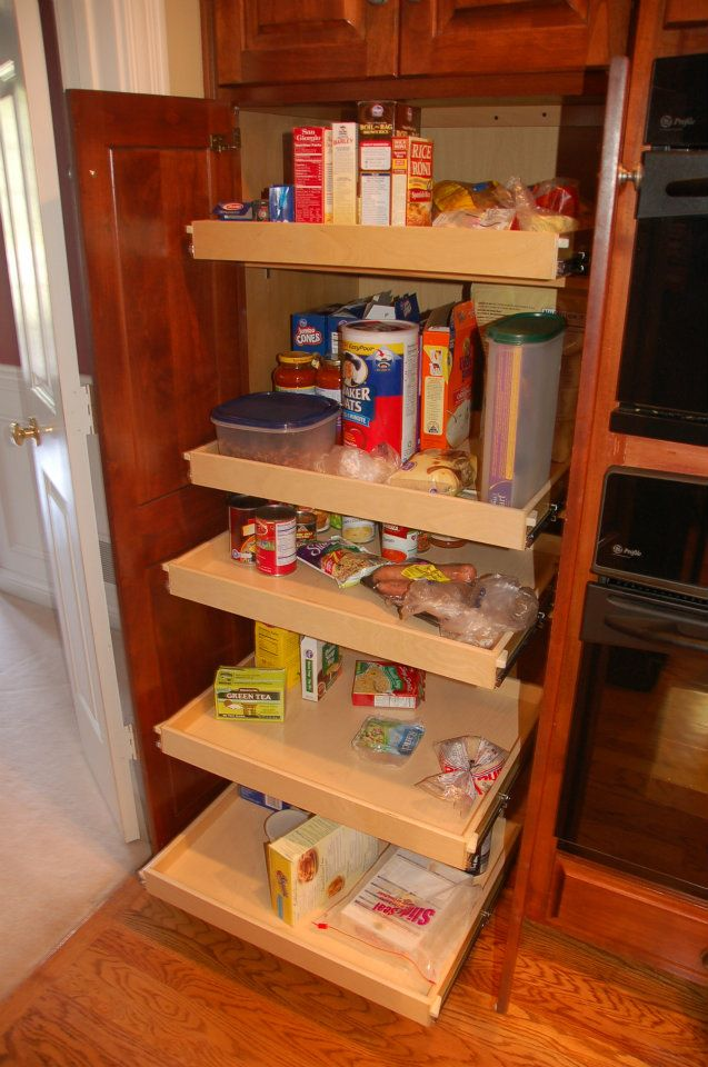 Amazing Simple Pull Out Pantry Made From Wood With Softwood Platforms