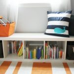 Simple Small Creative Cool Adorable Under Window Bookcase With Elegant Compact Wooden White Concept Design With Five Storages
