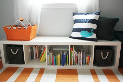 Simple Small Creative Cool Adorable Under Window Bookcase With Elegant  Compact Wooden White Concept Design With