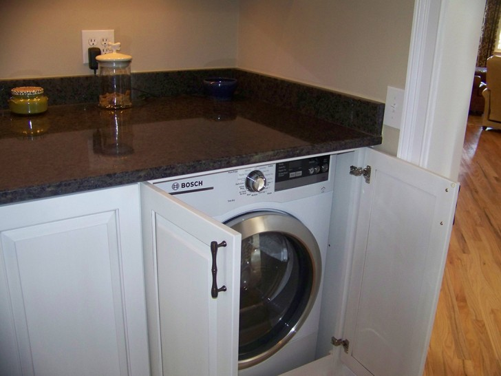Modern Design of Washer and Dryer Cabinet | HomesFeed