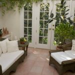 small sunroom in rustic style cozy living room in rustic woodbin decorations  plant decorations on in window bench
