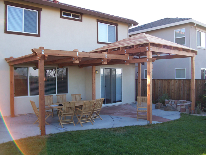 Wooden patio covers give high aesthetic value and best for Build covered patio