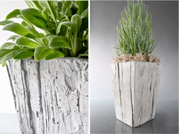 Decorative concrete urns outdoor small cube concrete Concrete planters