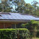 solar panels applied on traditional home_s roof