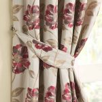 tieback curtains in beautiful flower pattern