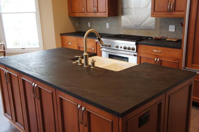 Soapstone Kitchen Counter Tops : Wonderful concept of soapstone kitchen island design