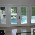 traditional nice adorable cool wonderful  shutter for french door with double door and sidelight window made of wood for classic house
