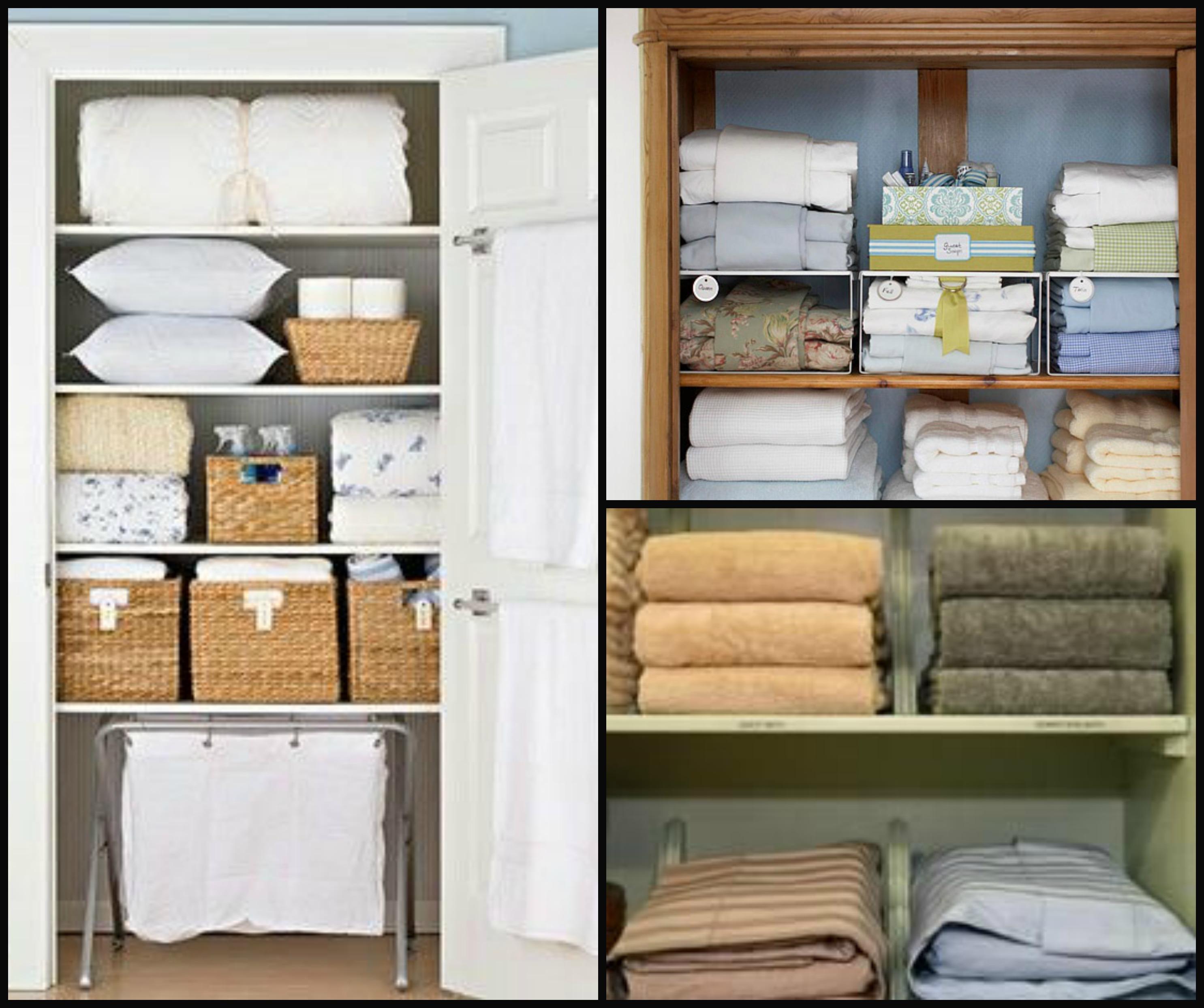 Linen Closet Organizers A Solution To Organize Linens Homesfeed