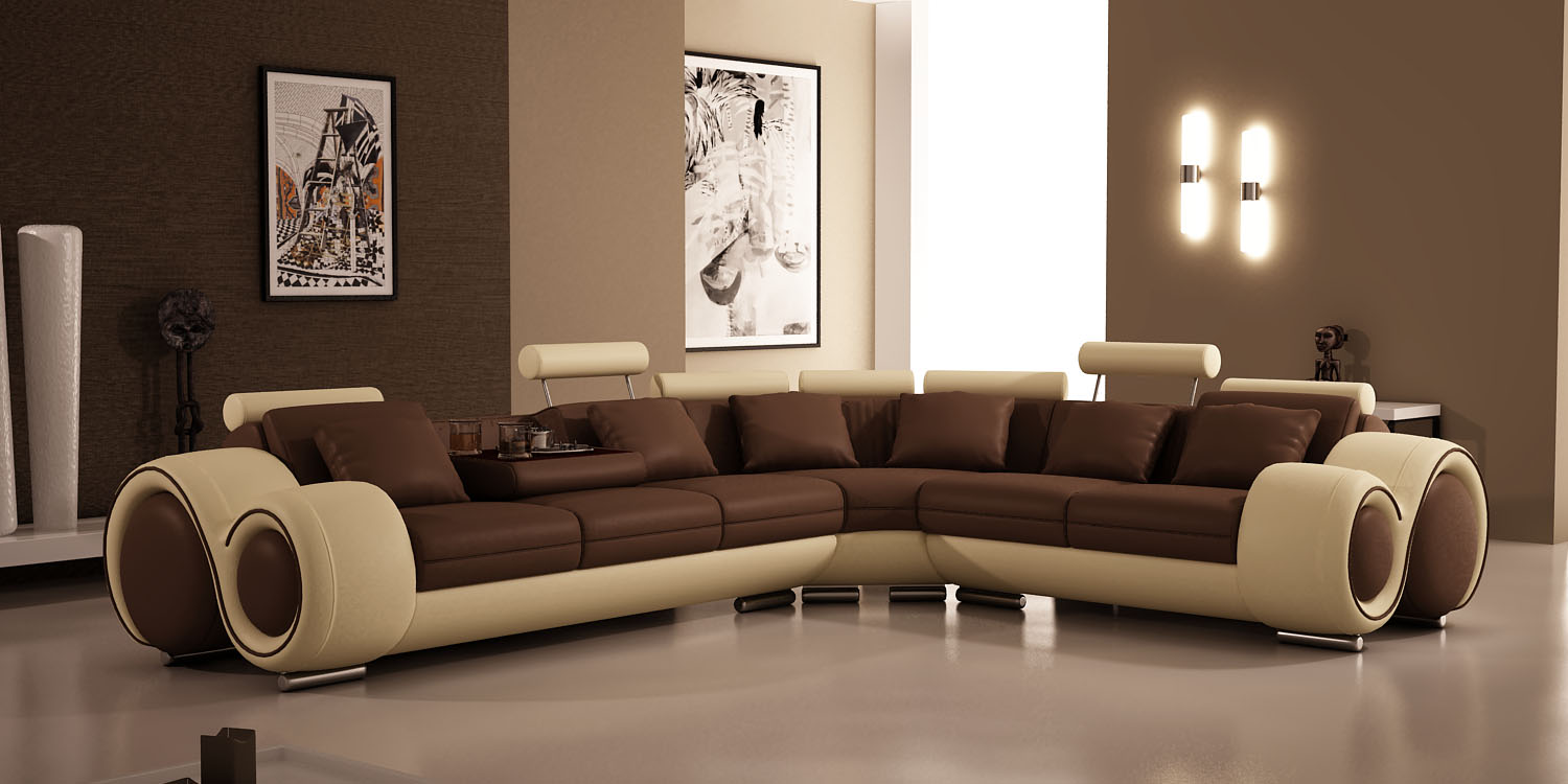 Superieur Unique Style Sectional Sofa Set In Two Tones Water Based Epoxy Paint Floor  Large Abstract