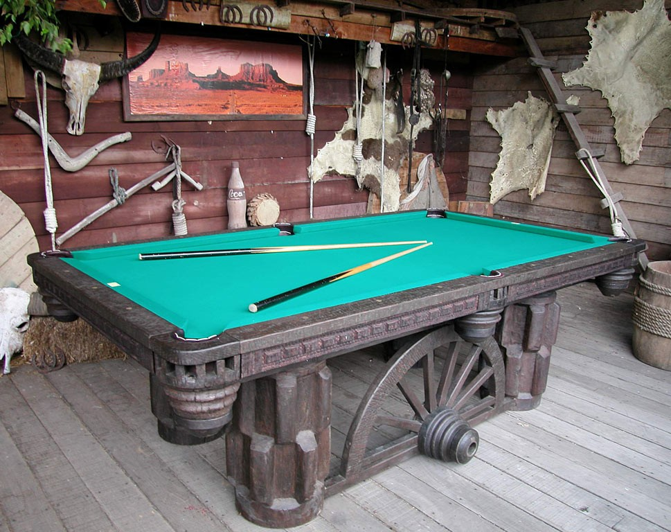 Pool Table A Decorative Furniture As Well As Hobby Facility HomesFeed - Western pool table