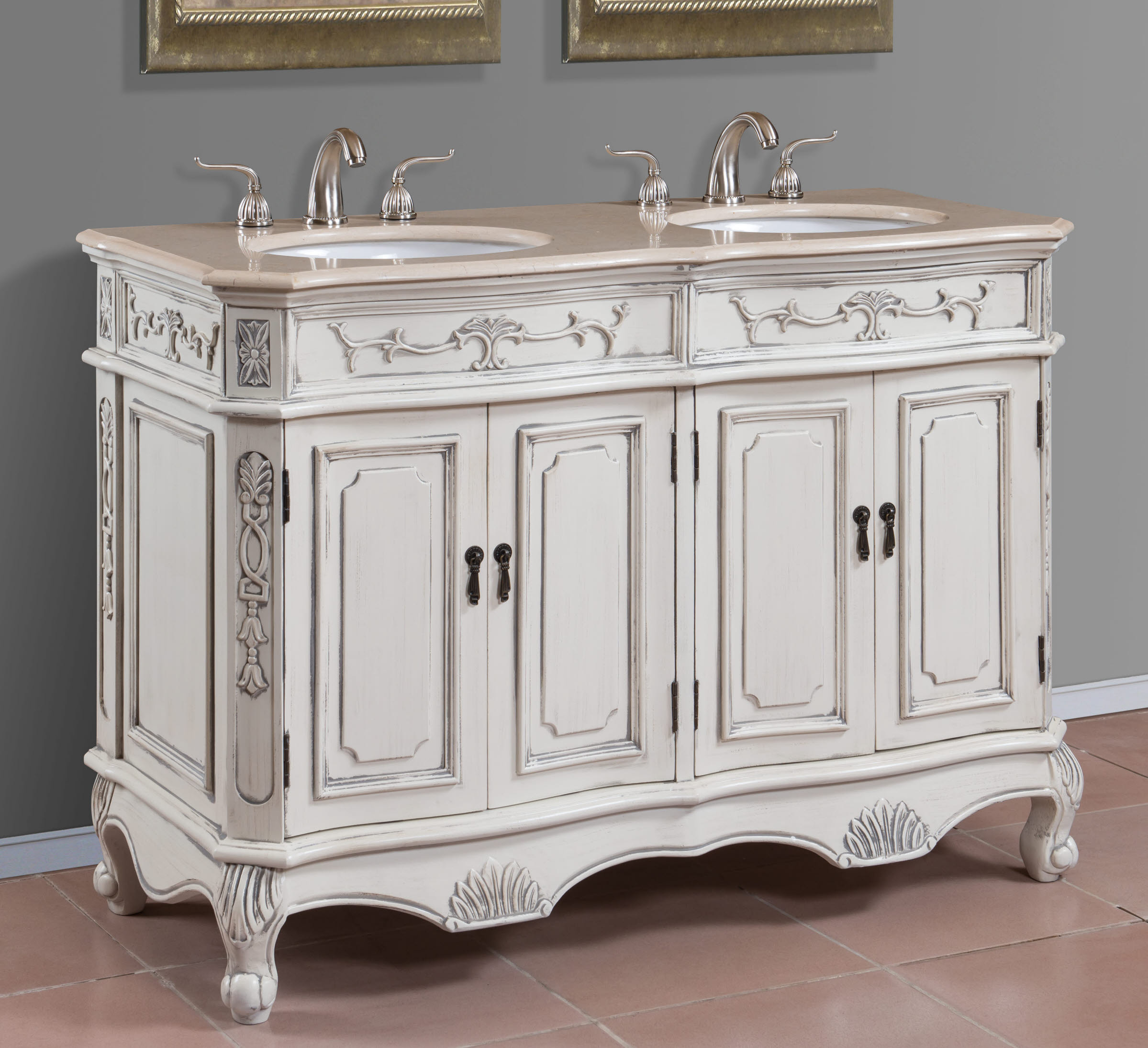 48 Inch Double Sink Bathroom Vanity - HomesFeed