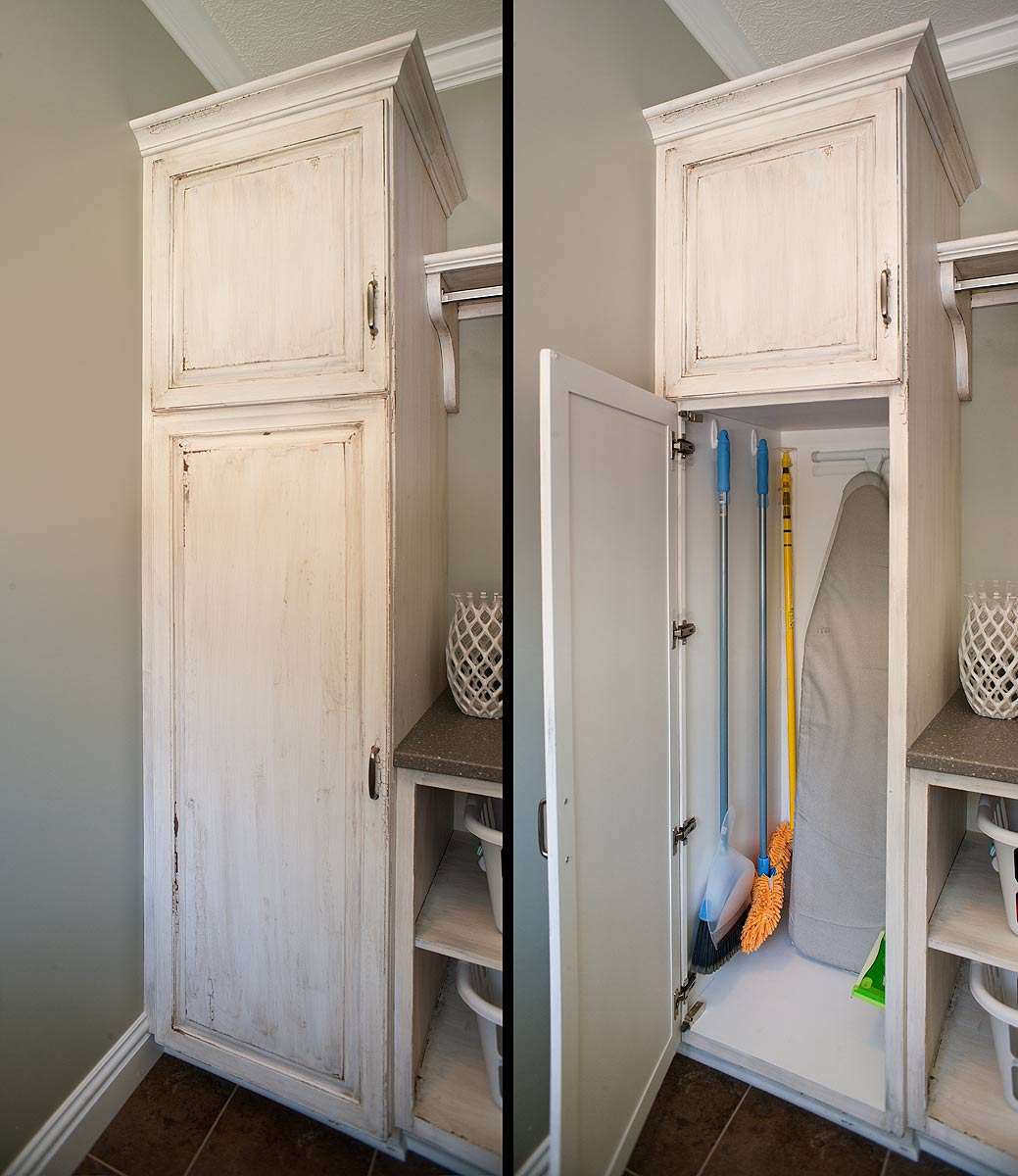 Broom Closet Cabinet Smart And Practical Solution To Organize The Brooms And