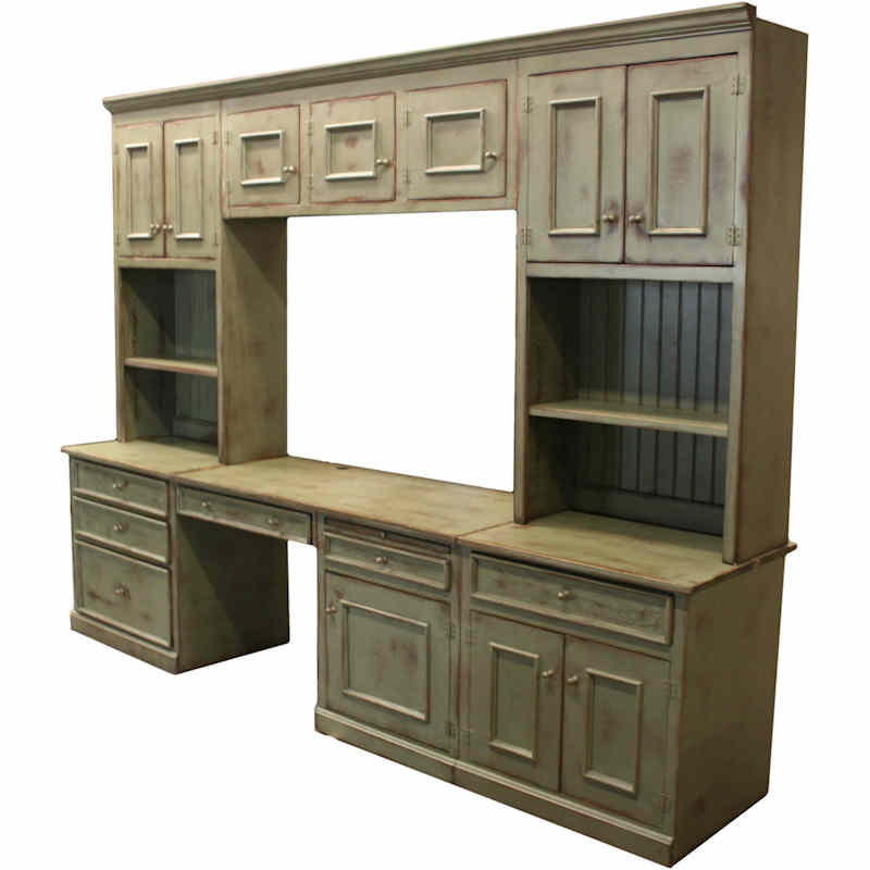 Amazing Wall Units With Desk And Bookcase Plus Cabinets Homesfeed Largest Home Design Picture Inspirations Pitcheantrous