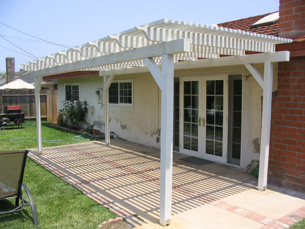 How to build a wooden patio cover for Build covered patio
