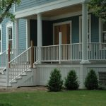 White Wood Planks Porch Skirting Idea