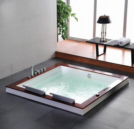 built in hot tubs provides luxury and extra comfort homesfeed. Black Bedroom Furniture Sets. Home Design Ideas