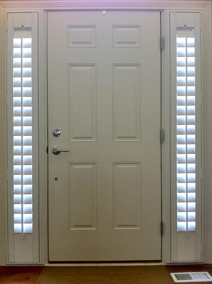 Sidelight window treatments on the main entry doors for Entrance door with window