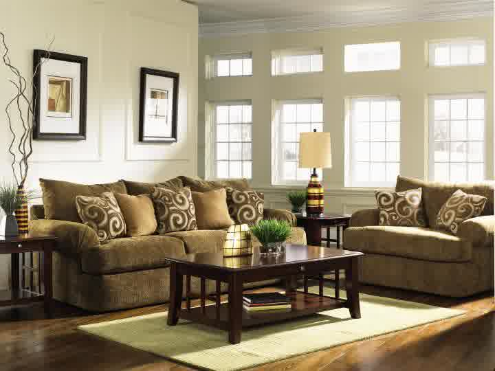 Brown leather sofa a great piece of furniture you should for Living room ideas tan sofa