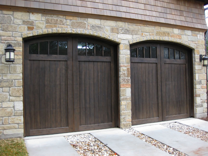 Design A Garage Door cypress solid walnut 01 Wonderful Cool Creative Nice Adorable Fantastic Garege Door With Dark Brown Wooden Concept Design Small Design
