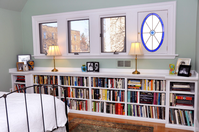 several concept of under window bookcase at your bedroom homesfeed. Black Bedroom Furniture Sets. Home Design Ideas