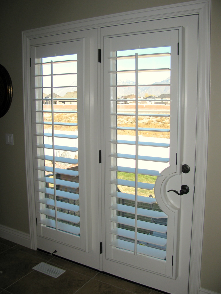 Cool and nice design of shutter for french doors homesfeed for French door designs