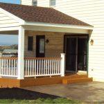 wood board lattice idea for under porch covering