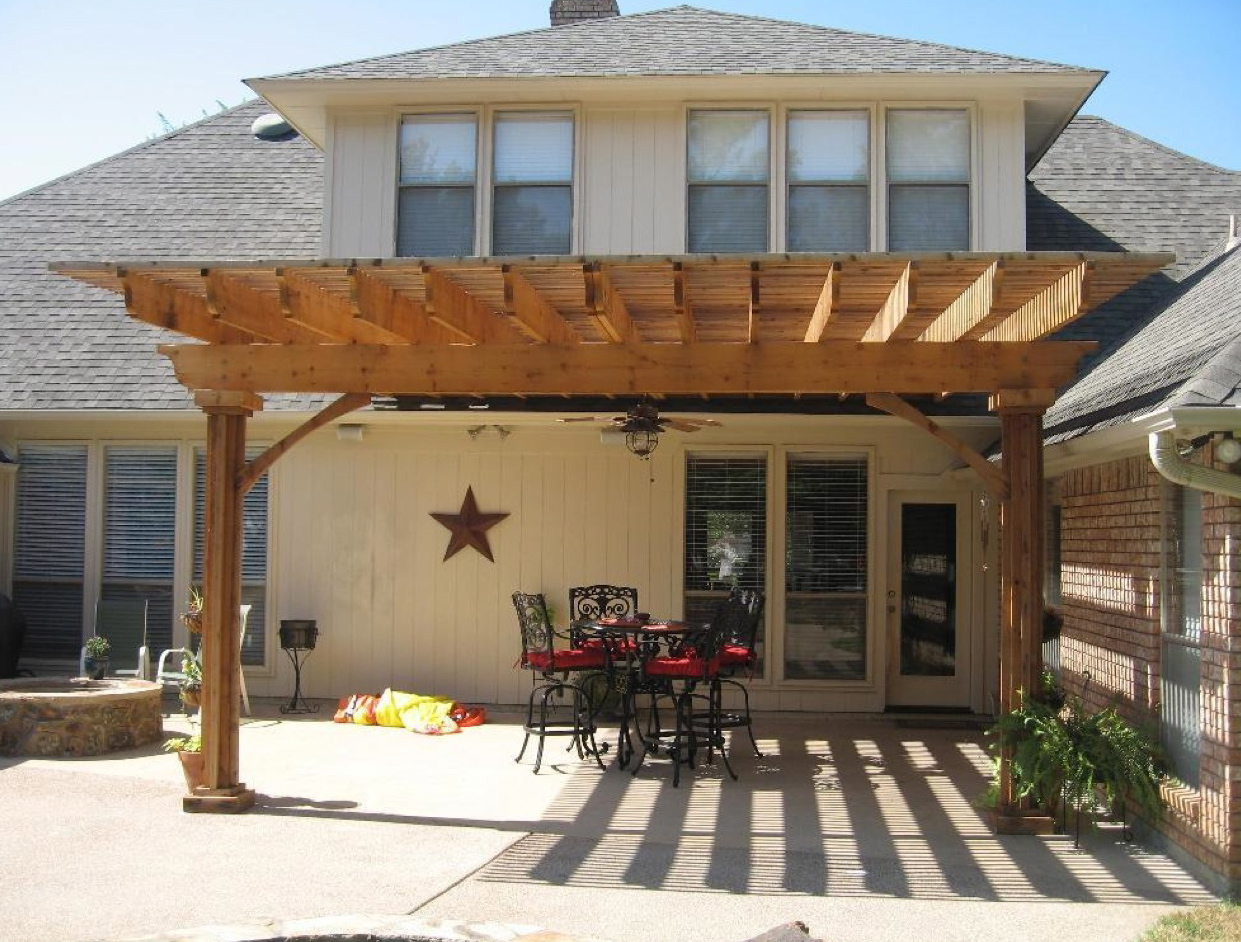 Wooden patio covers give high aesthetic value and best for Patio cover design plans