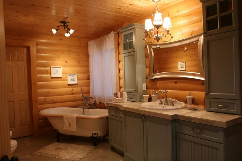 Beauty Of Rustic Bathroom Ideas And Models: Soaking Tubs For Small Bathrooms