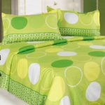 Adorable Coolest Nice Atractive Bad Sheet With Lime Green Concept With Round Decoration So Fresh And Natural With Great Bed Design 728x538