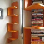 adorable-cute-simple-nice-fantastic-cool-corner-bookshelf-with-zigzag-design-ir-orange-coloring-concept-with-small-design-for-small-room-728x541