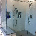 adorable-ncie-modern-awesome-built-in-shower-caddies-with-glass-made-wall-and-dor-concept-with-mdoern-fixture-with-mounted-design