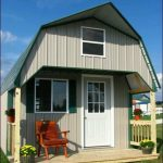 Adorable Nice Awesesome Shed Turned Into A House With Large Concept Design Made Of Wood Has Single White Door