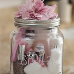 adorable-nice-cool-awesome-diy-nail-kit-mason-jar-with-small-glass-jar-with-pink-ribbon-design-on-the-cover