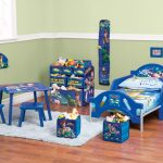 Adorable Nice Cool Fantastic Elegant Toy Story Bedroom Decoration With Blue Coloring Ebd Concept With Ncie Picture And Wooden Floor